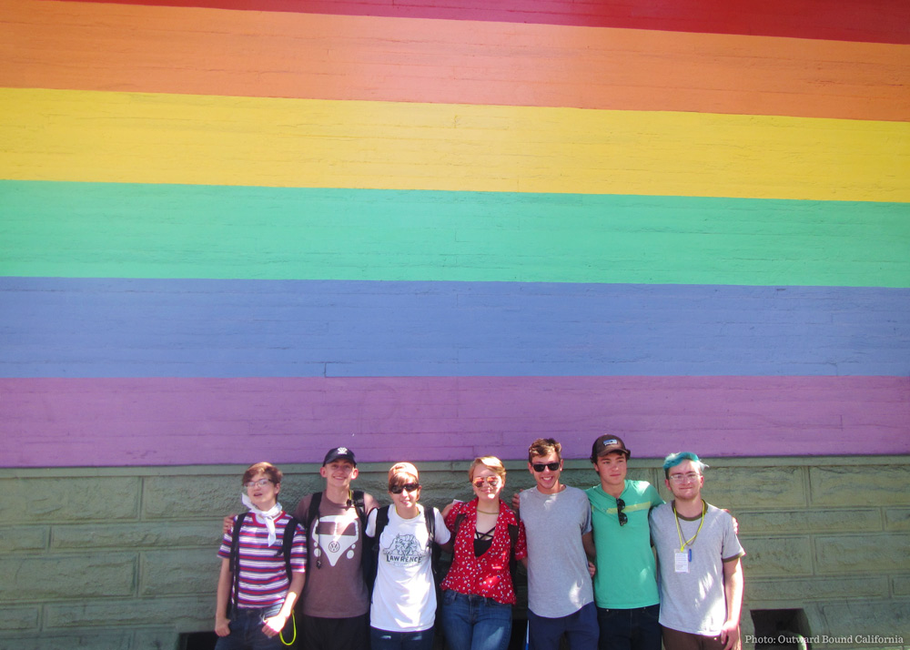 Outward Bound's first-ever LGBTQ+ trip, facilitated by Outward Bound California.