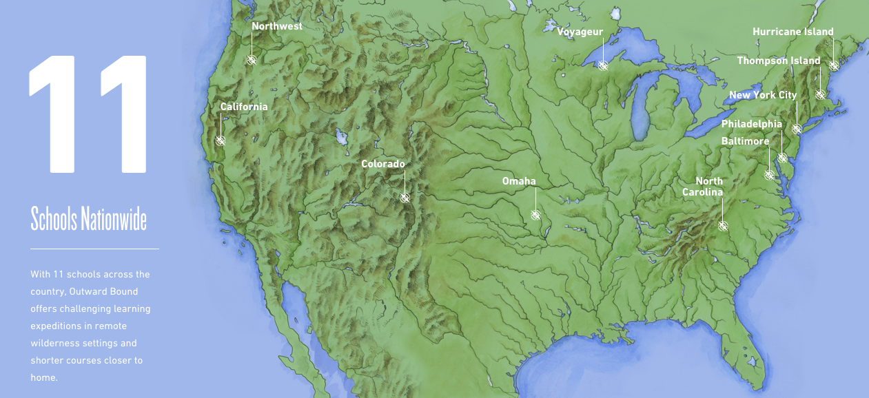 Outward Bound USA Map